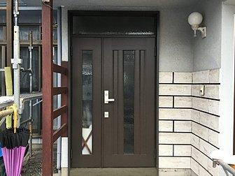 大分市で玄関ドアを取り替えました。