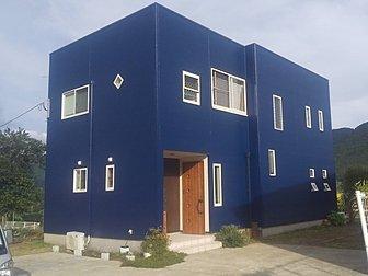 由布市で住宅の塗装工事などを行いました。